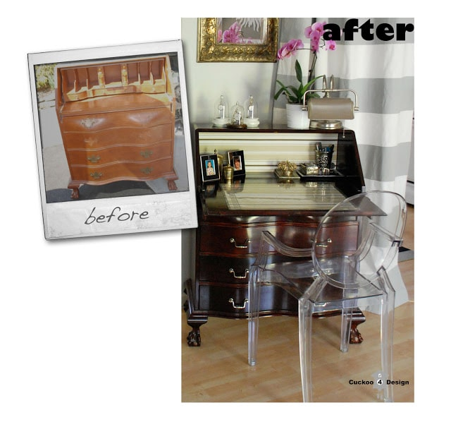 secretary desk makeover before and after by cuckoo4design