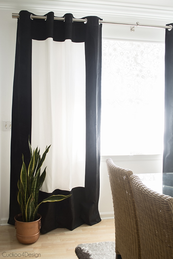Black And White Fabric Painted Curtains Cuckoo4design