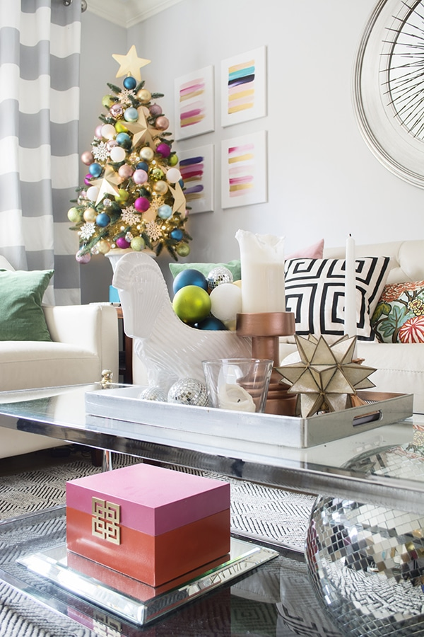 colorful Christmas living room by Cuckoo4Design