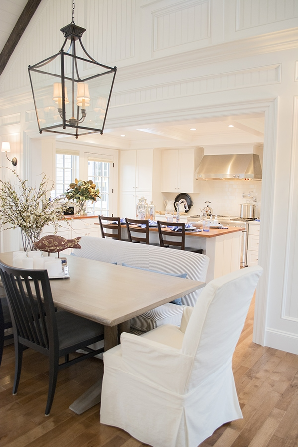 dining and kitchen area in the HGTV 2015 dream home on Martha's Vineyard - Cuckoo4Design