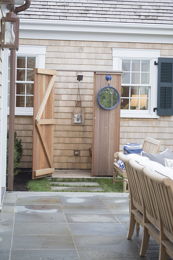 Outdoor Shower in the 2015 HGTV dream home on Martha's Vineyard - Cuckoo4Design