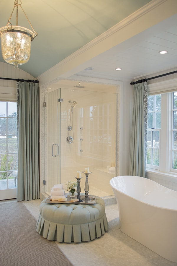 Master Bathroom in the 2015 HGTV dream home on Martha's Vineyard - Cuckoo4Design