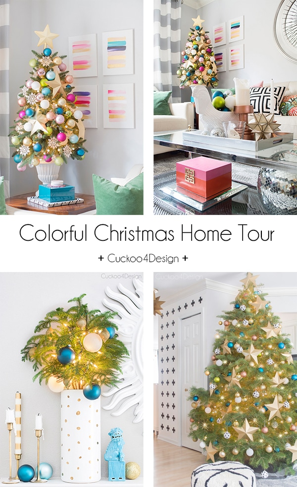 colorful Christmas decorating ideas by Cuckoo4Design