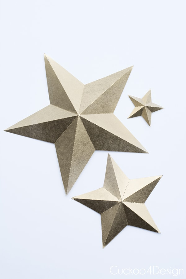 Foldable 3d Stars With Downloadable File Cuckoo4design