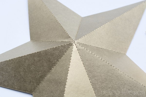 How to make gold folded 3D stars with a silhouette machine