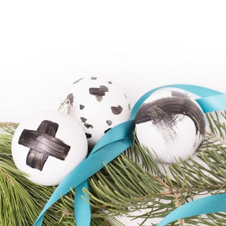 Painted Brushstroke ornaments by Cuckoo4Design
