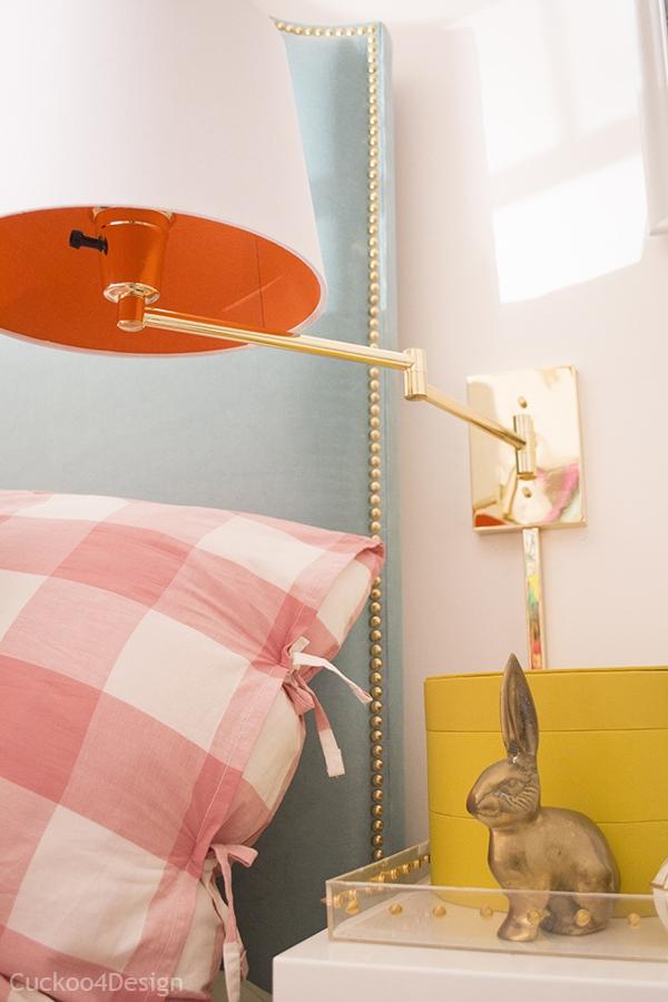 Bedside Brass Swing Arm Lamp