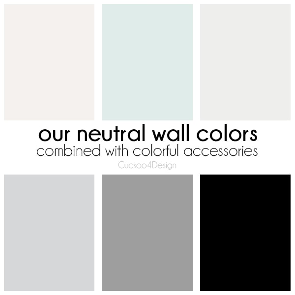 How to create a colorful home with neutral wall colors and colorful accessories
