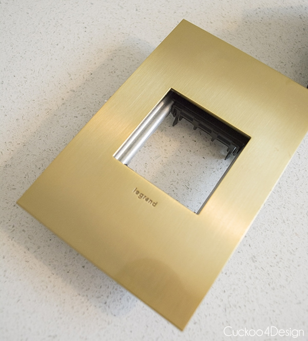 Legrand Adorne Brushed Brass switch plate