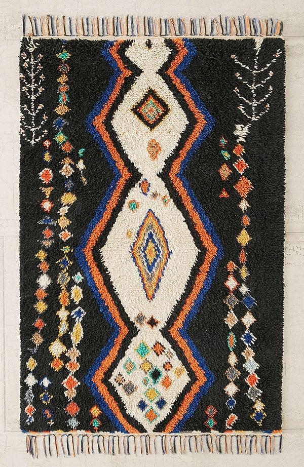 black Killim rug