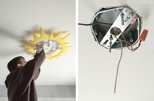 How to install a sputnik ceiling fixture