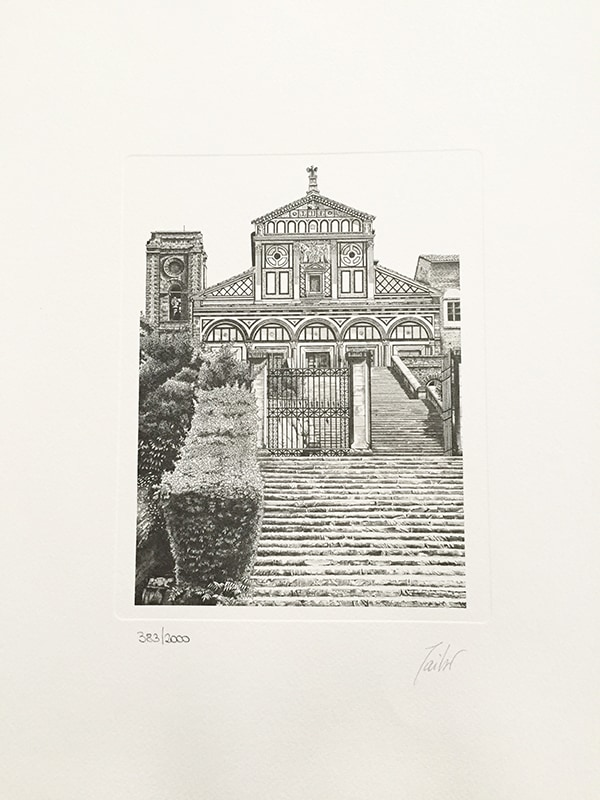 black and white vintage limited edition italian cathedral prints