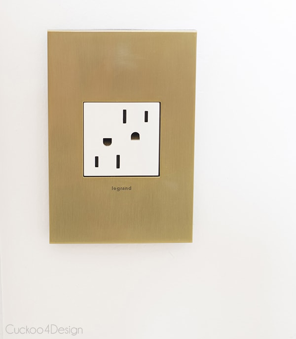 Legrand Adorne Brushed Brass outlet