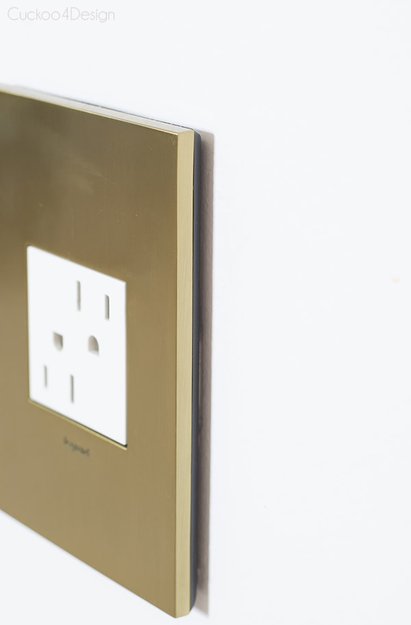 Legrand Adorne Brushed Brass outlet