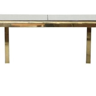 Milo Baughman extendable brass dining table
