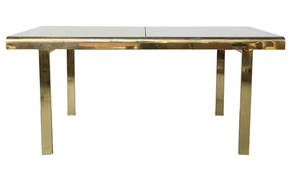 Milo Baughman extendable brass dining table