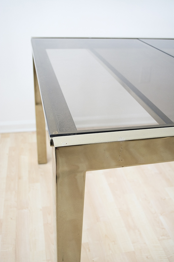 modern brass dining table