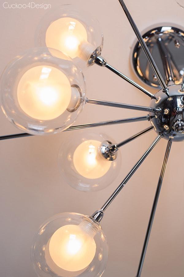 silver sputnik ceiling fixture