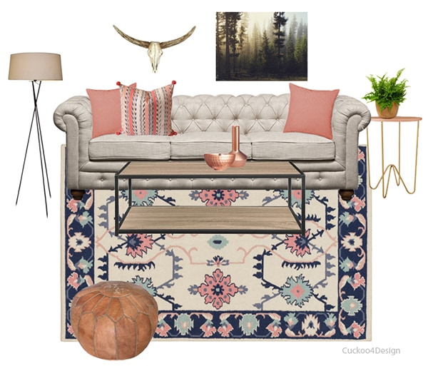 blue and pink south western living room - Cuckoo4Design2