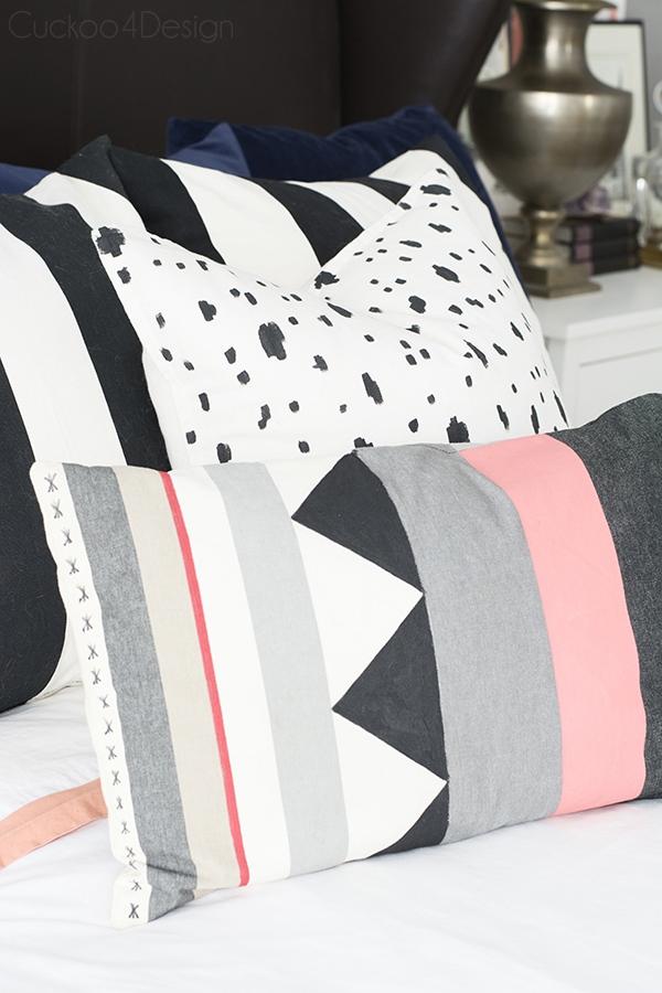 easy DIY Kilim pillows