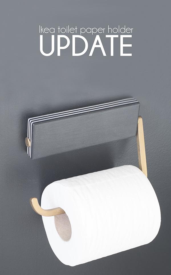 DIY custom Ikea toilet paper holder