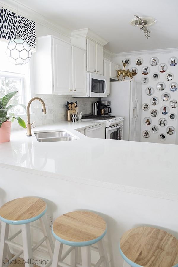 creating interest in a white on white kitchen