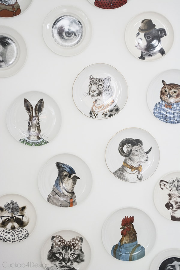 animal plate wall