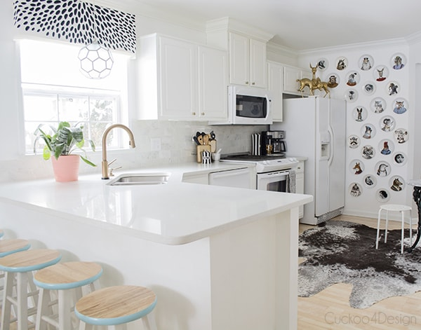creating interest in a white on white kitchen