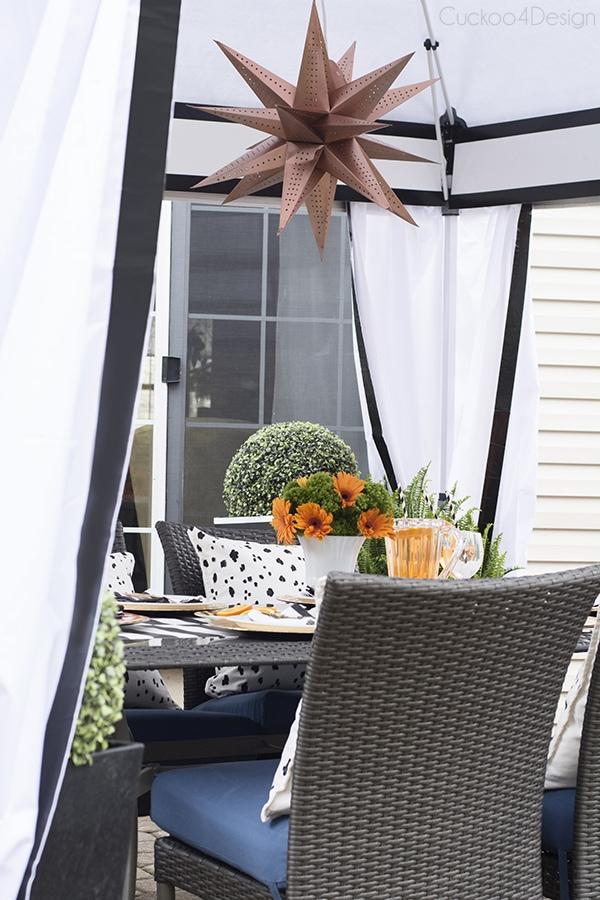 stylish black and white cabana patio - Cuckoo4Design