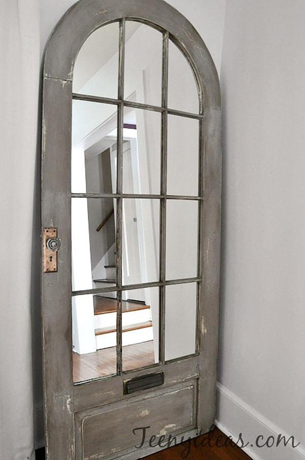 door to floor mirror DIY