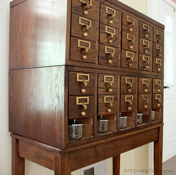 How to refinish a card catalog