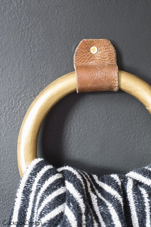 DIY hand towel ring holder