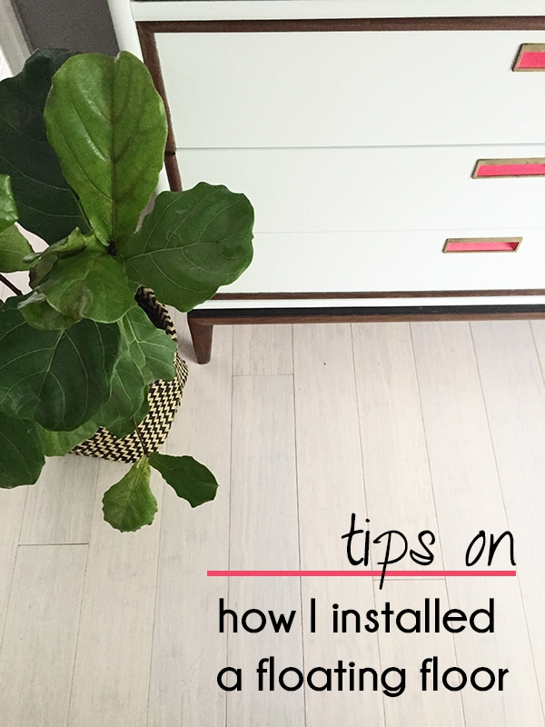 How to install a floating floor
