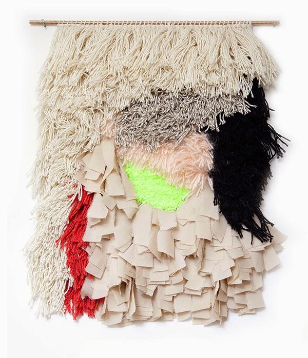 textured yarn wall art