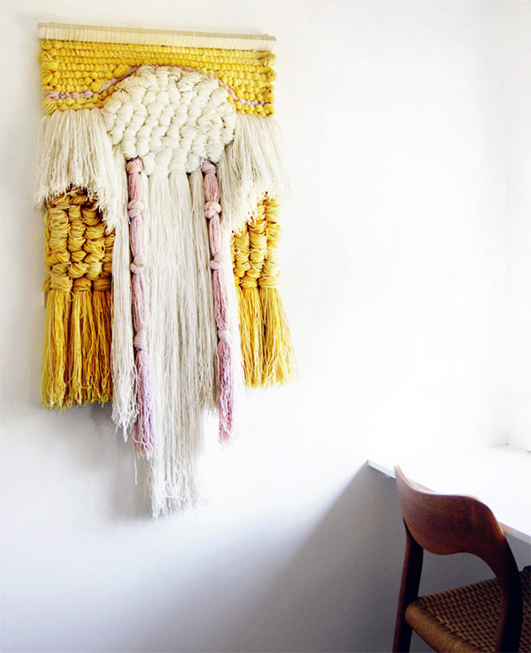 Thick beautifully textured macrame