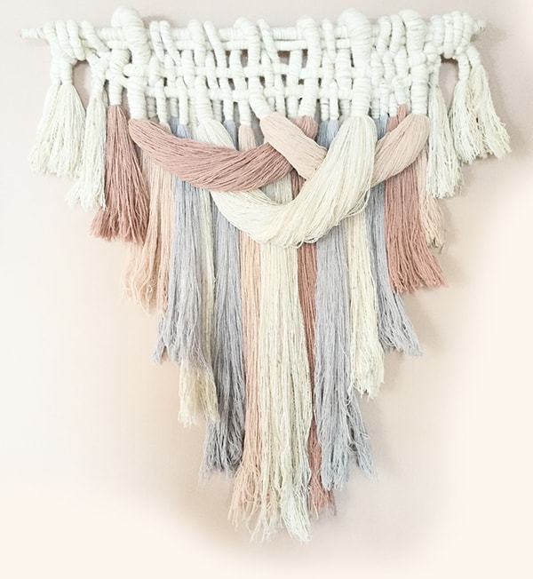 thick beautiful macrame wallhanging
