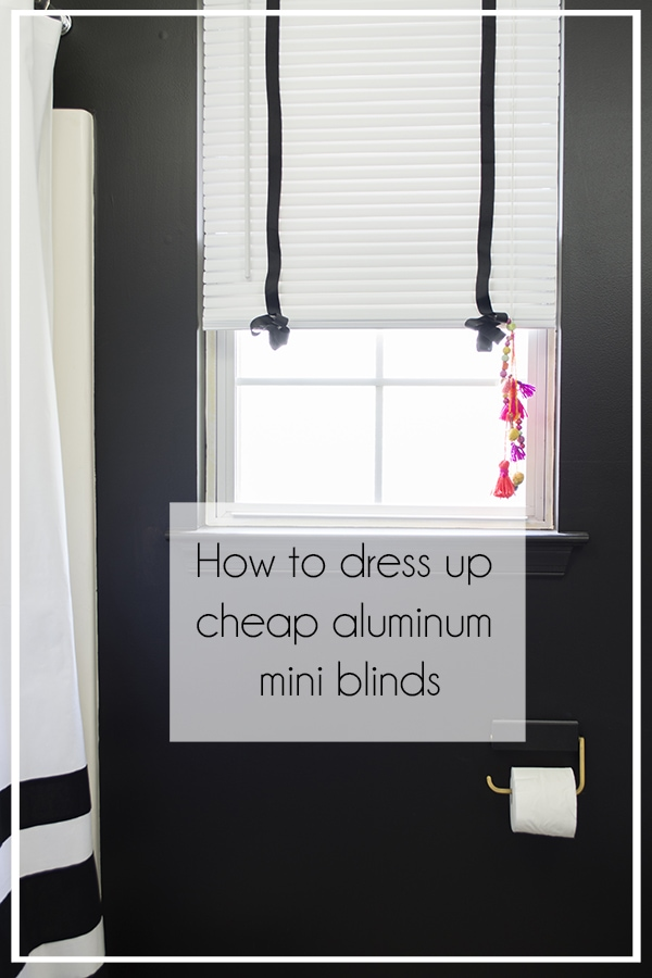 How to dress up cheap aluminum mini blinds-Mini-Blinds_1