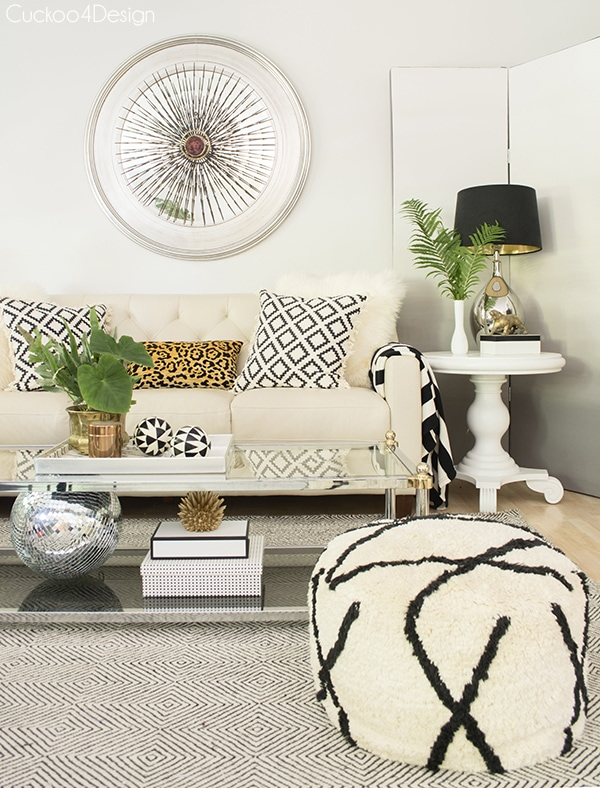 summer living room with neutral layers and texture