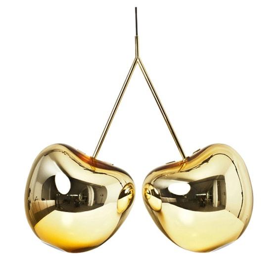 gold cherry chandelier
