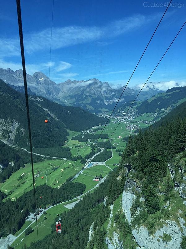 view from Cabel Car Fürenalp Engelberg