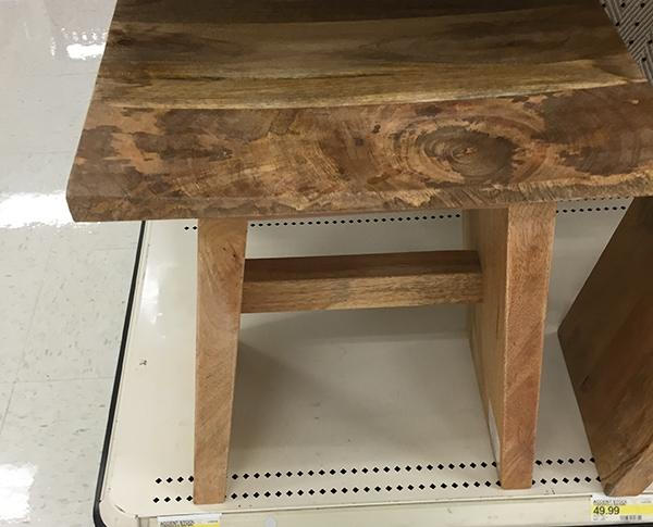 Target wood stool