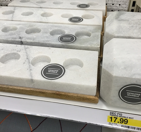 marble Target candle holders