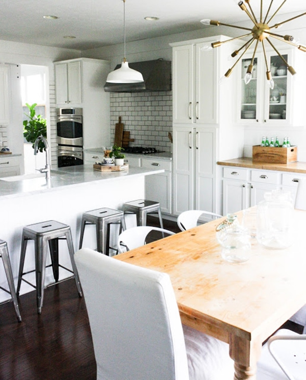 Adventures In Decorating Our 2015 Fall Kitchen: Untraditional Fall Decorating Trend