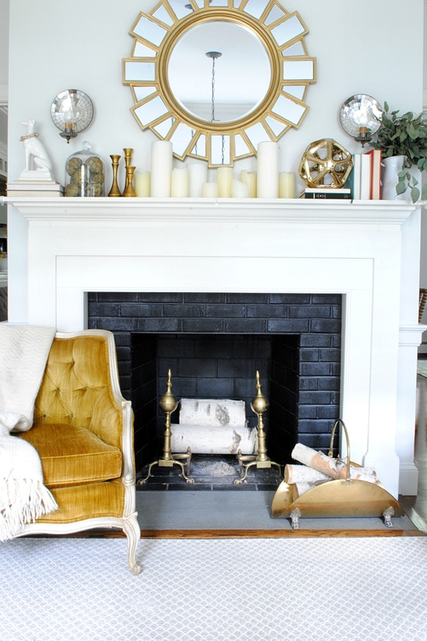 modern traditional fall decorating