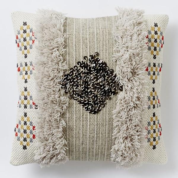 moroccan wedding blanket inspired throw pillow