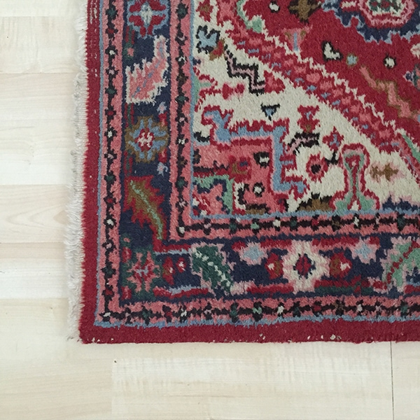 vintage red blue green rug