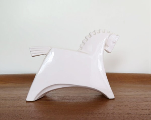 Japanese white horse statue