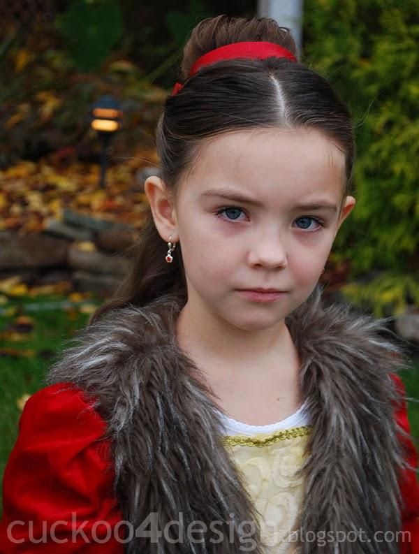 DIY Belle costume red dress - Cuckoo4Design