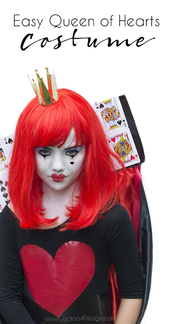 Easy Queen of hearts costume