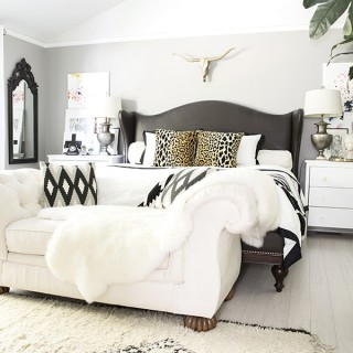 neutral boho glam bedroom - Cuckoo4Design